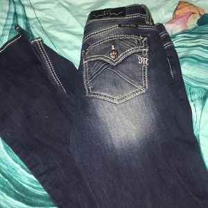 Miss Me standard bootcut jeans. Size 27